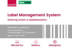 Bezpłatny webinar: Label Management System - dokonaj zmian w etykietowaniu!